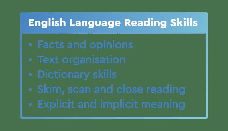 english language reading skills